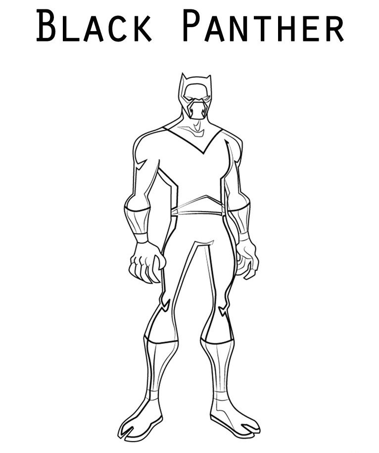 Easy Black Panther Coloring Pages