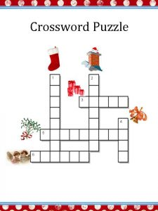 Easy christmas crossword puzzles printable