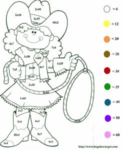 Easy color by number multiplication sheet