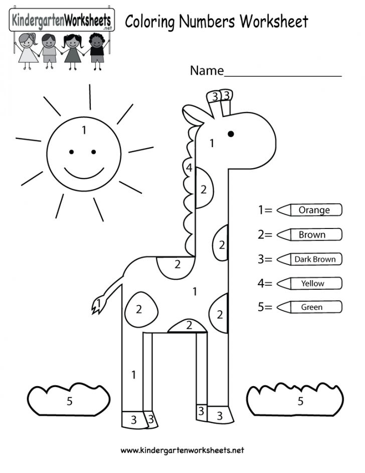 Easy Color By Numbers Giraffe
