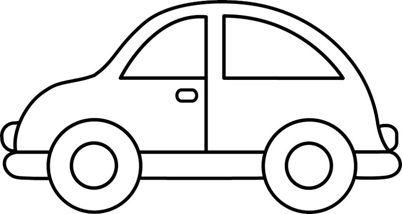 Easy Coloring Pages Car
