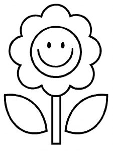 Easy coloring pages flower 001