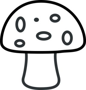 Easy coloring pages mushroom