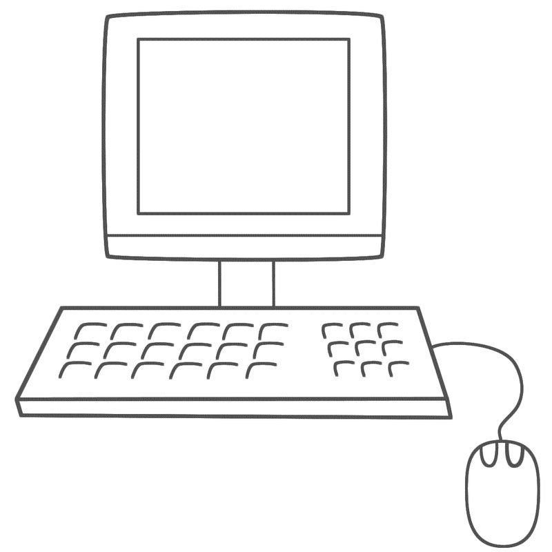 Easy Computer Coloring Pages