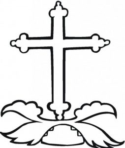 Easy cross coloring pages