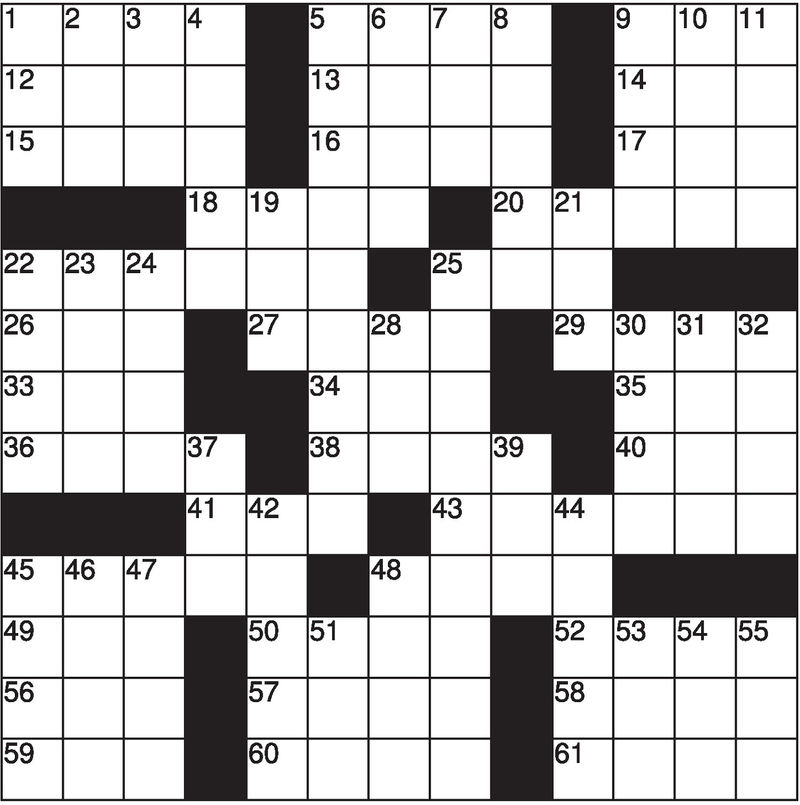 Easy Crossword Puzzles For Kids Black