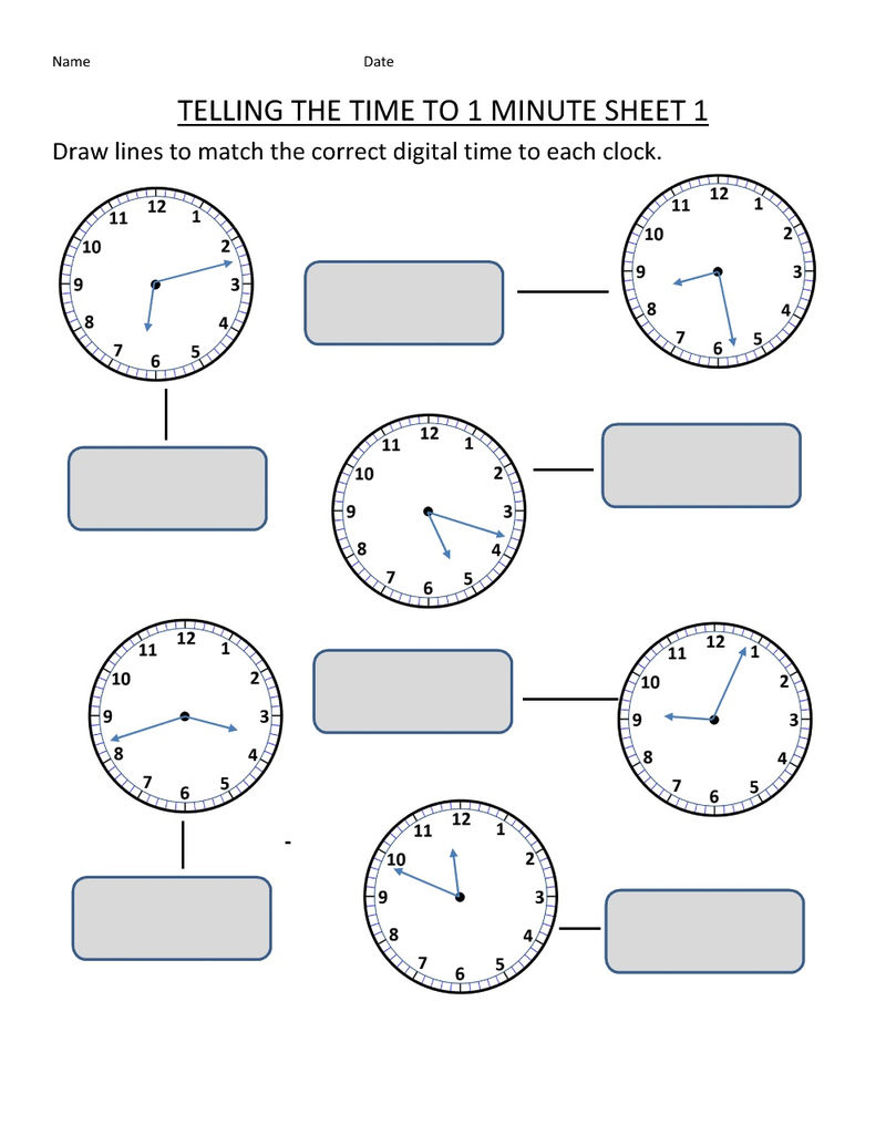 Easy Elapsed Time Worksheets Page