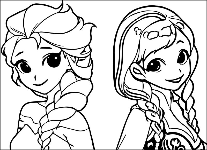 Easy Elsa Coloring Pages