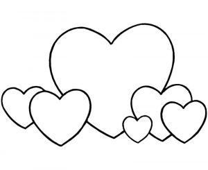 Easy hearts coloring pages
