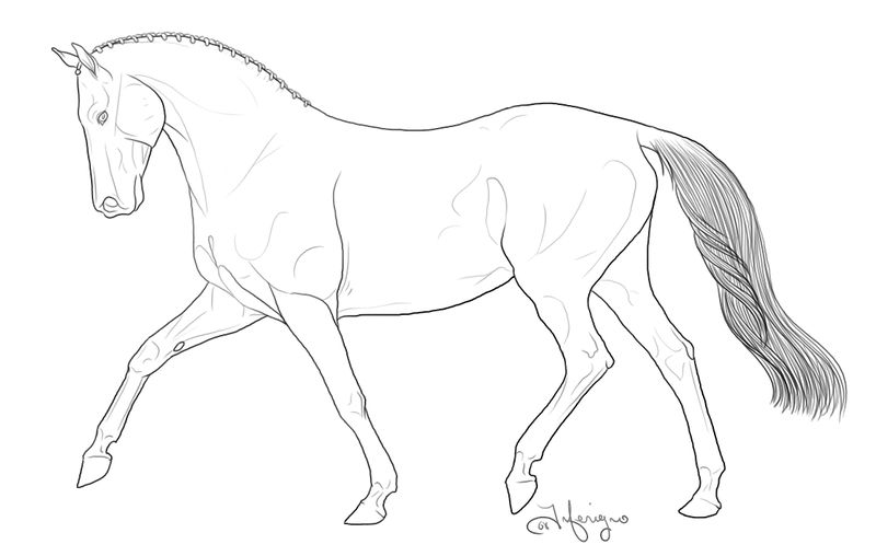 Easy Horse Coloring Page To Print