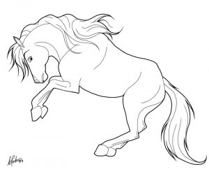 Easy horse coloring pages