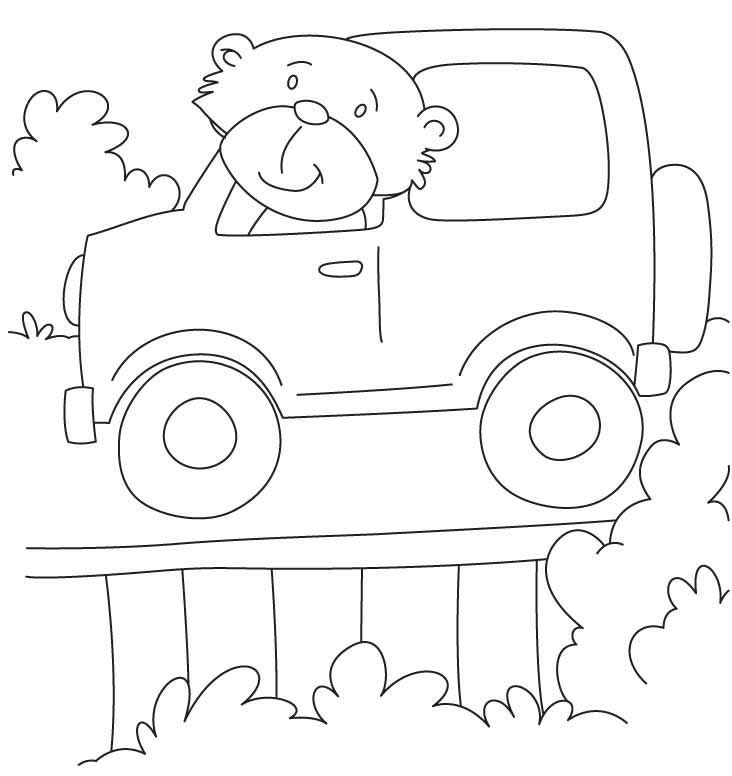Easy Jeep Coloring Pages