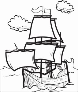 Easy mayflower coloring page