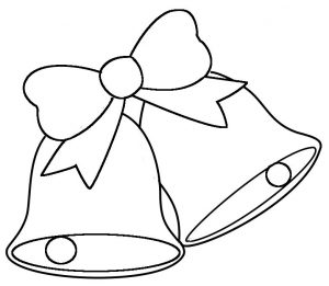 Easy wedding bells clipart for coloring