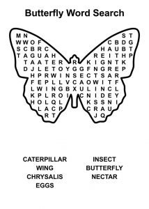 Easy word searches butterfly
