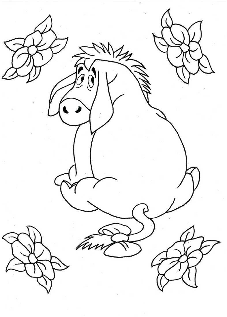 Eeyore Coloring Pages For Kids