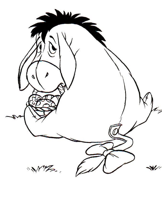 Eeyore Easter Basket Coloring Pages