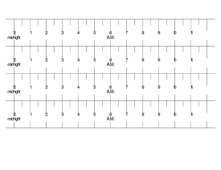 Elapsed Time Ruler Template
