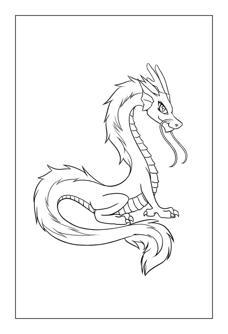Elegant Dragon Coloring Pages