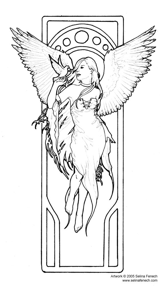 Elegant Fairy Coloring Pages