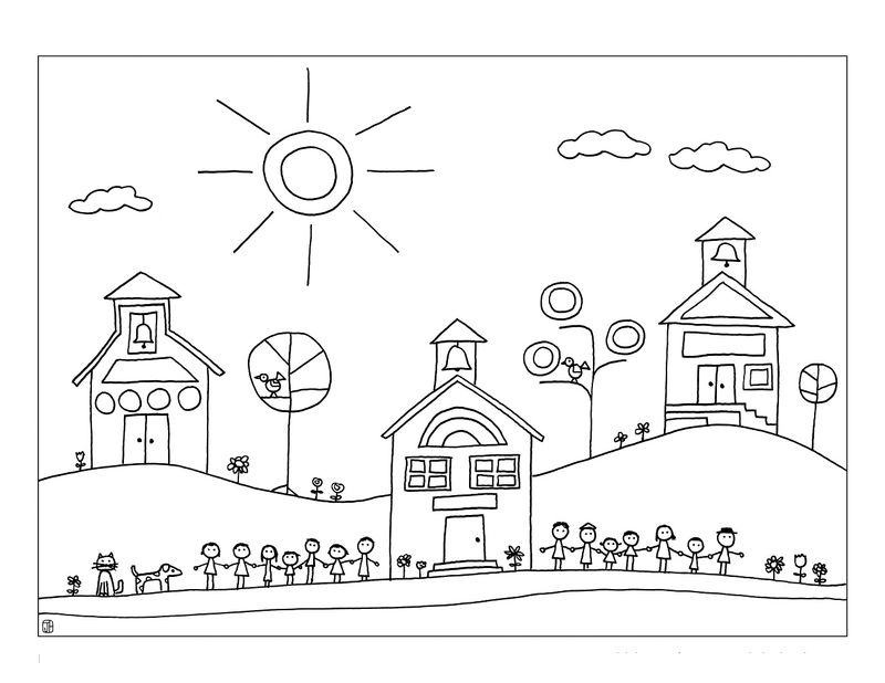 Elementary School Coloring Pages Sheet