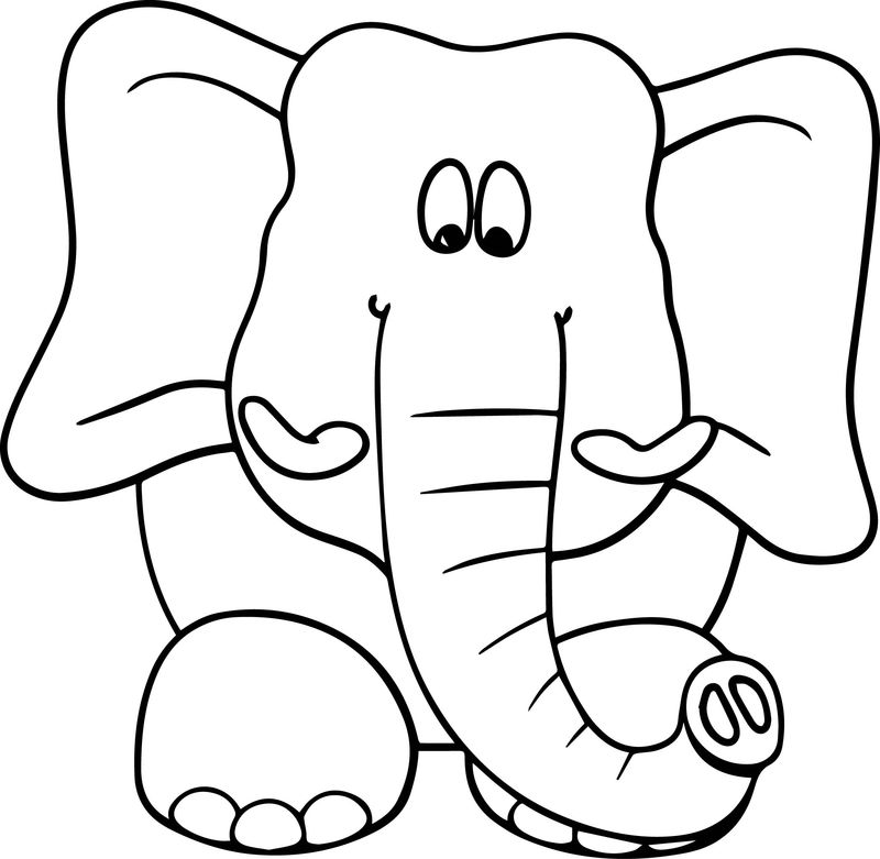 Elephant Big Coloring Page
