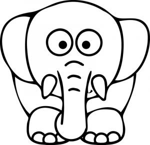 Elephant coloring page 01