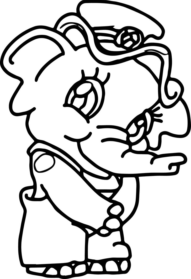 Elephant Girl Police Coloring Page