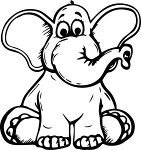 Elephant perfect coloring page