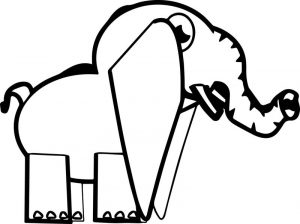 Elephant side sheet coloring page