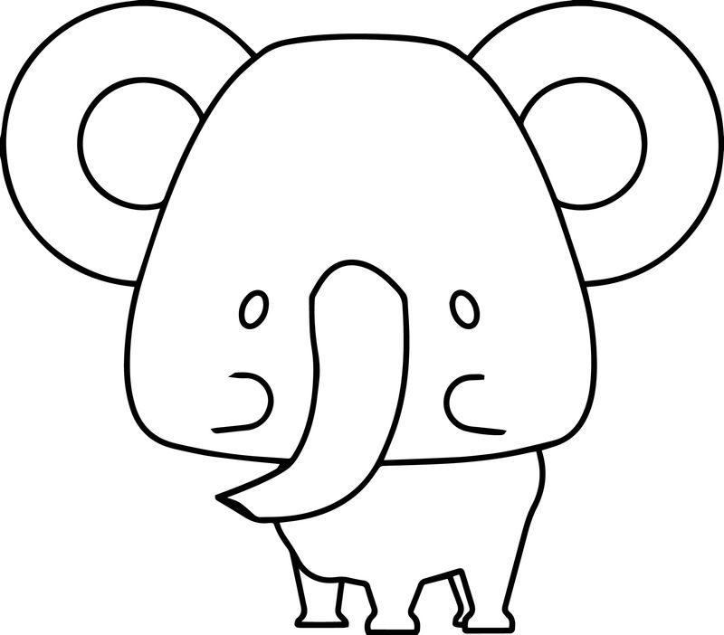 Elephant Sticker Coloring Page