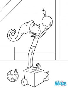 Elf hanging ornaments coloring page