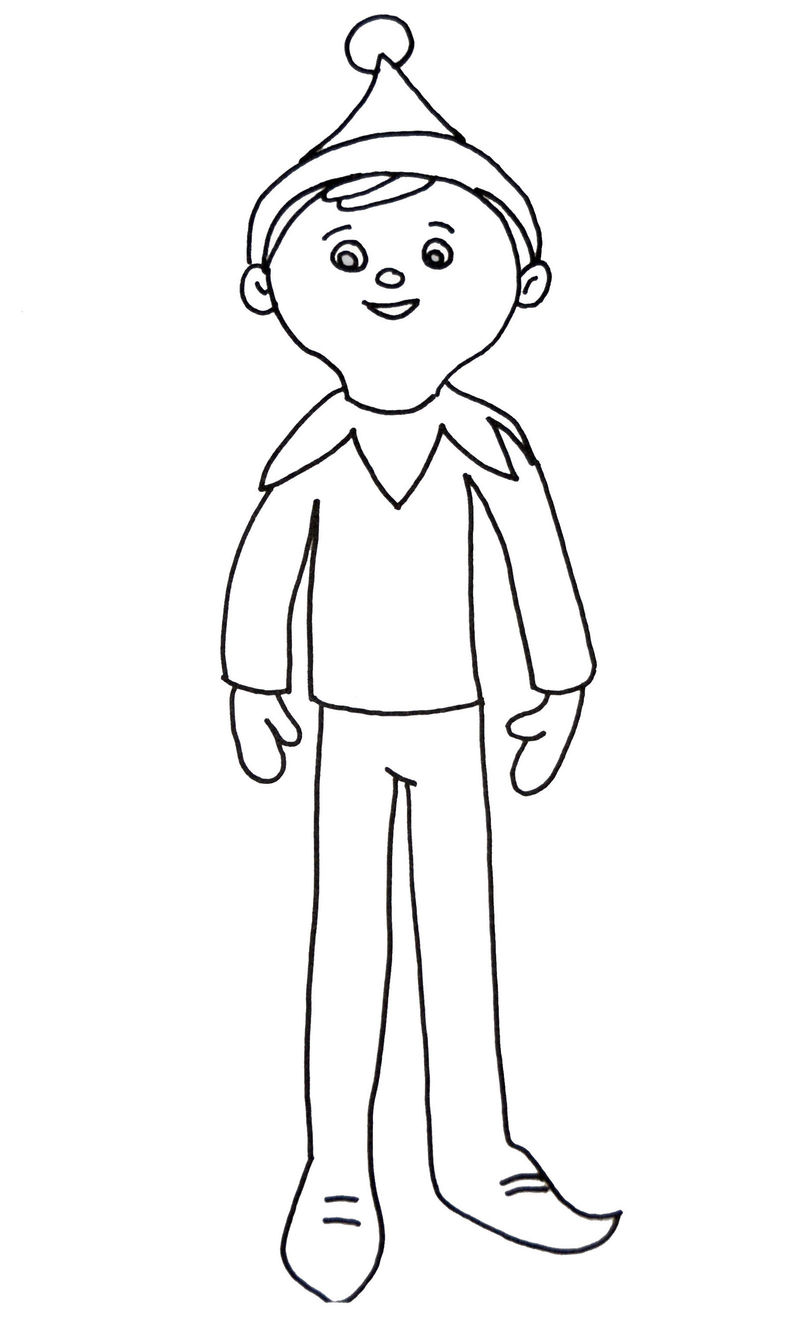 Elf On The Shelf Coloring Picture Designs