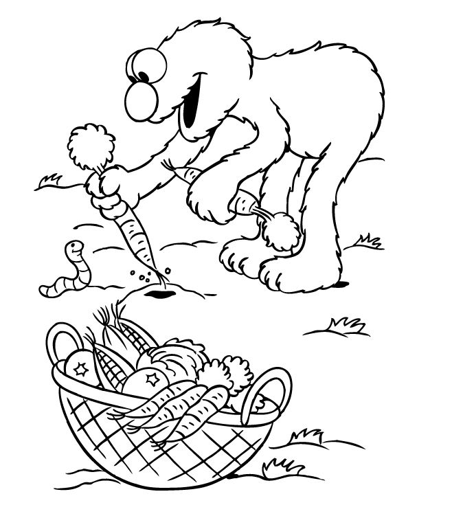 Elmo Coloring Pages For Kids 001 - Coloring Sheets