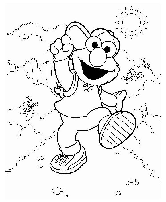 Elmo Coloring Pages For Kids Printable 001
