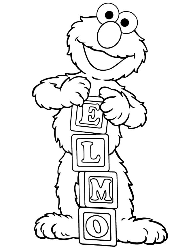 Elmo Sesame Street Coloring Pages 1