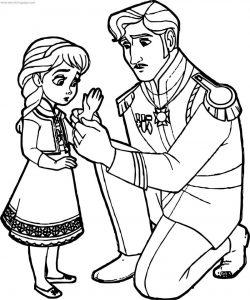 Elsa king your hand coloring page