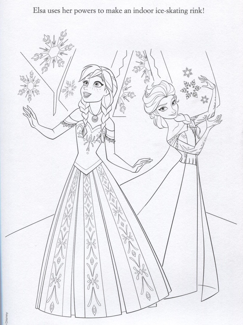 Elsa Makes Ice Rink Coloring Page