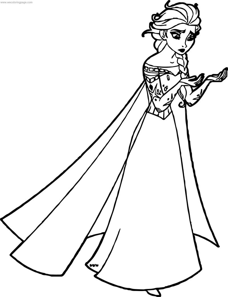 Elsa My Hands Coloring Page