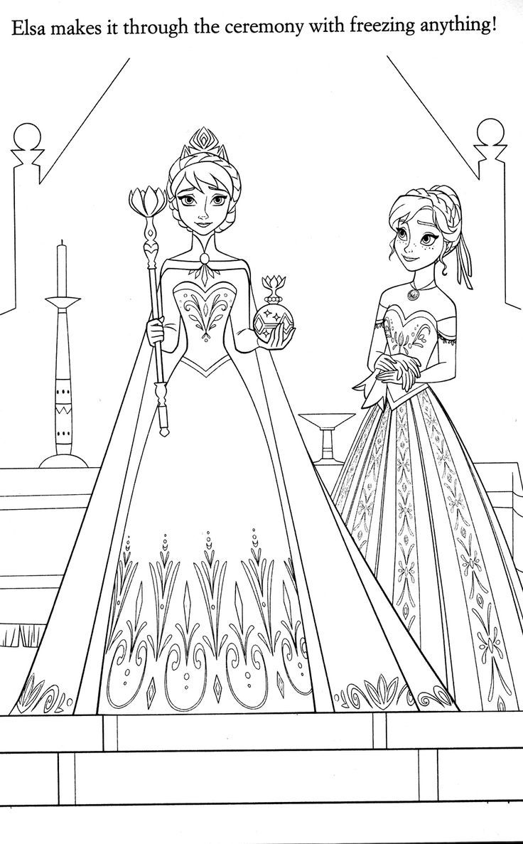 Elsas Ceremony Coloring Page
