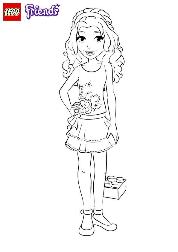 Emma Lego Friends Coloring Page