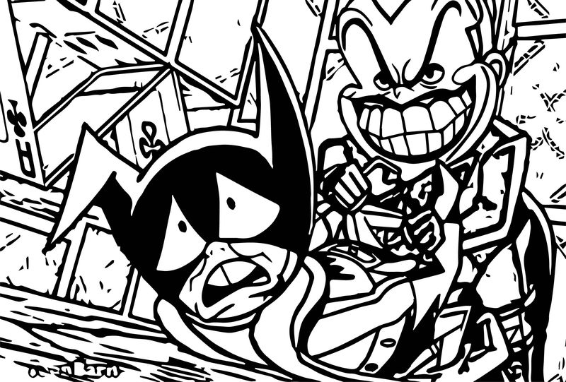 Emperor Joker Attacks Batman The Brave And The Bold On Cartoon Network Coloring Page