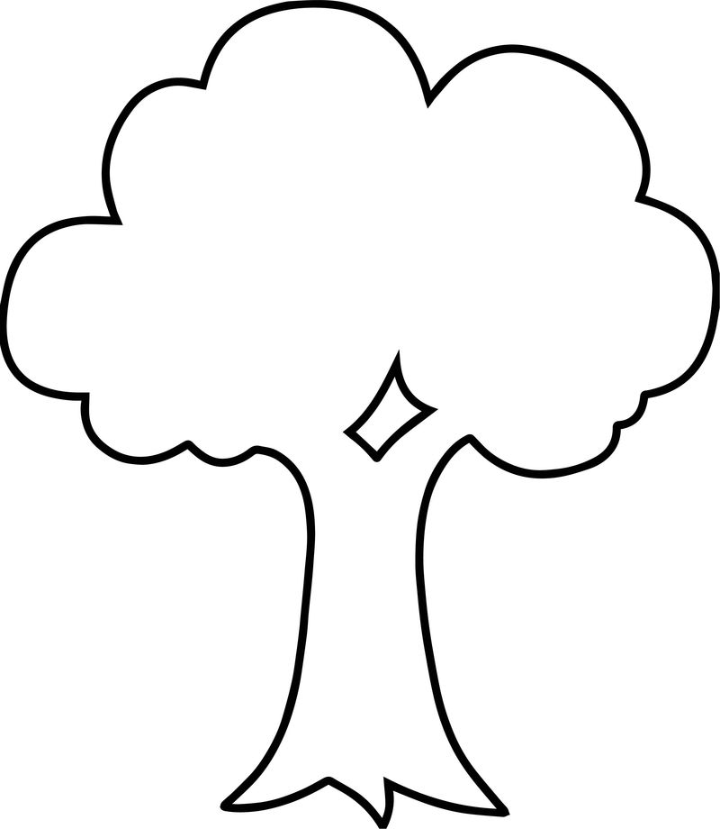 Empty Apple Tree Coloring Page