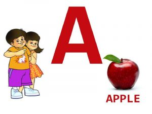 English alphabet a apple 001