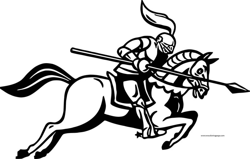 English Teacher Horse Attack Coloring Page