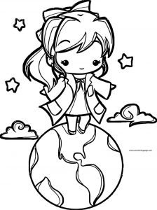 English teacher manga girl world coloring page