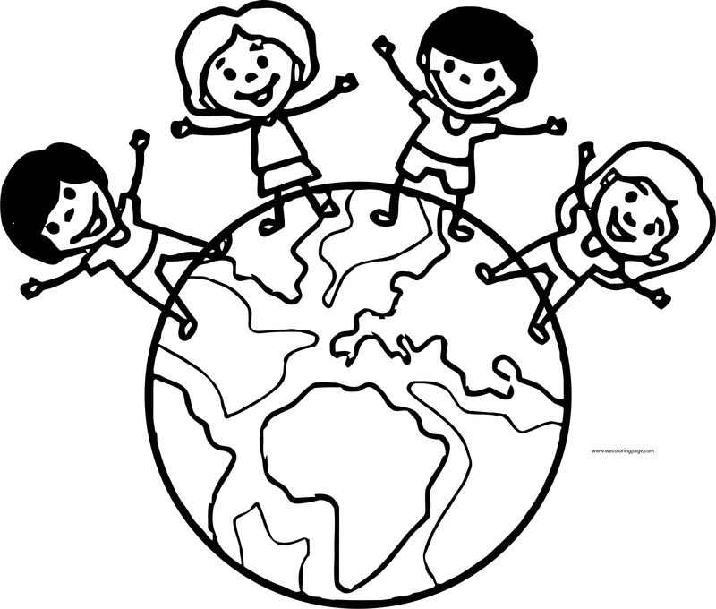 English Teacher World Coloring Page