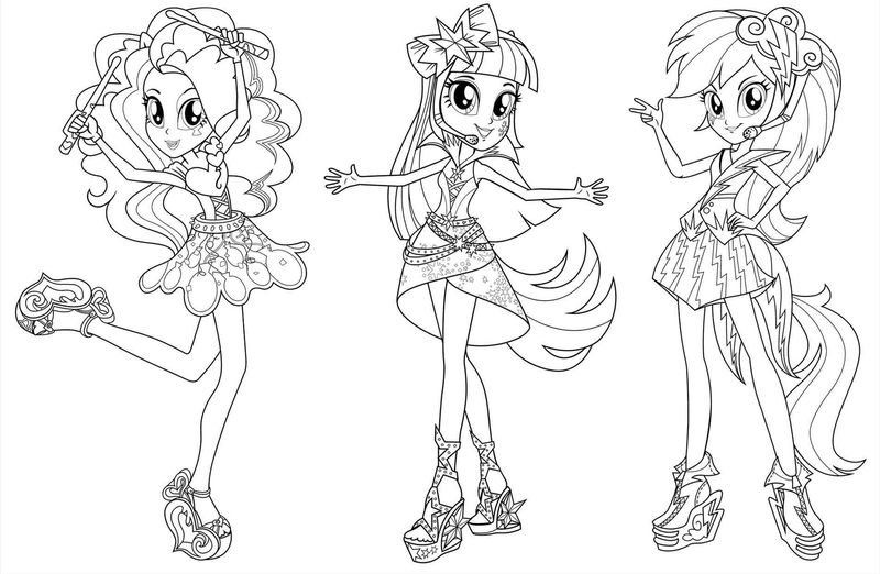 Equestria Girls Coloring Page Printable
