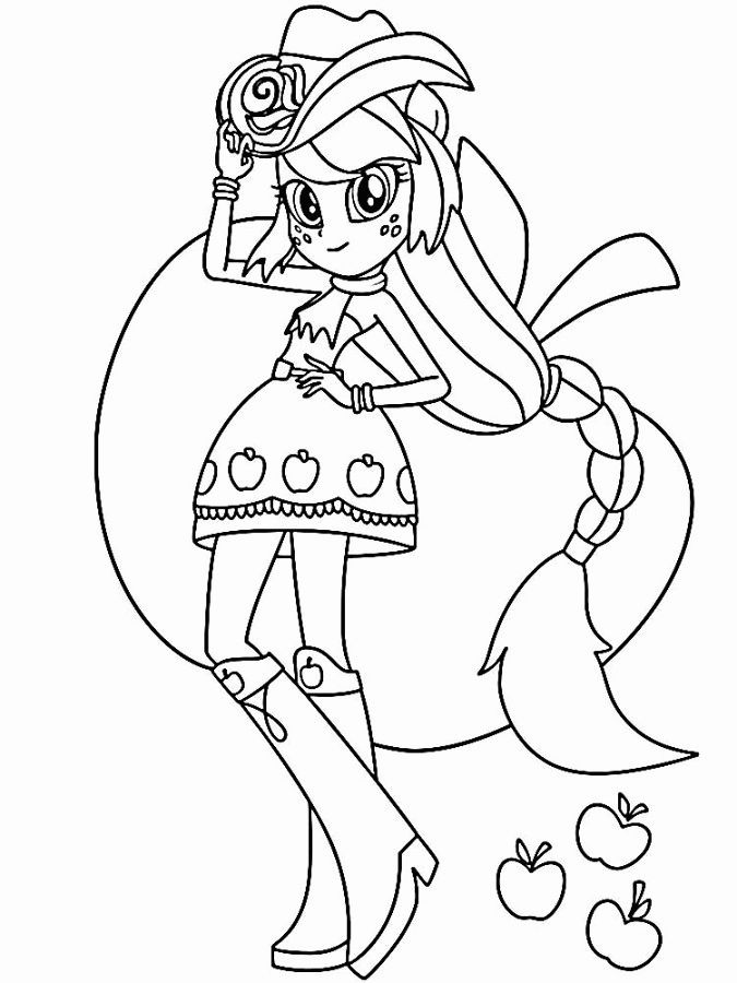 Equestria Girls Coloring Page 1