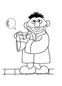 Ernies bathtime sesame street coloring pages